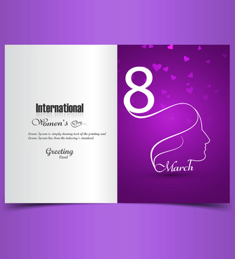 greeting card with text 8th march happy womens day presentation colorful background