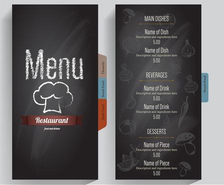 grey background restaurant menu
