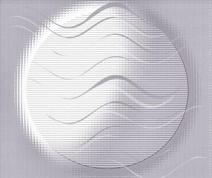 grey wavy globe