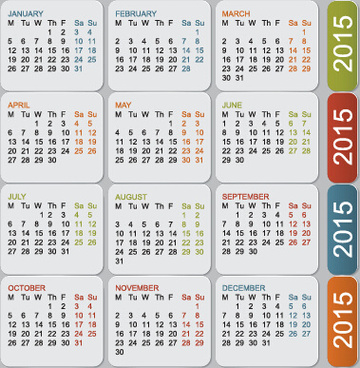 grid calendar15 vector design