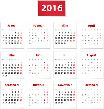 grid calendar16 modern vector