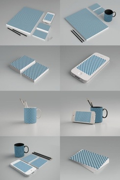 grid pattern product packaging 01psd layered