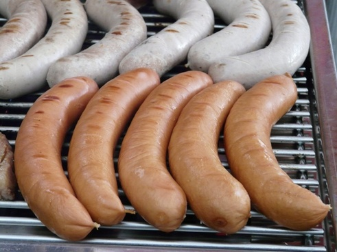 grilling barbecue sausage