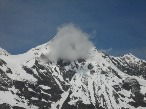 grossglockner mountain cloud