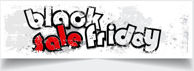 grunge black friday sale banner vector