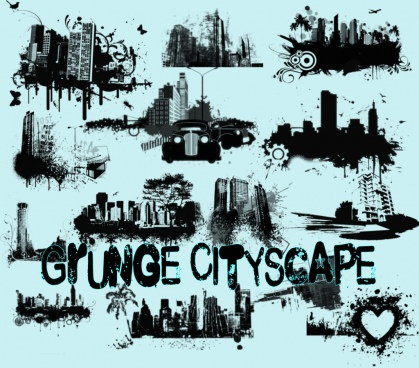 grunge cityscape