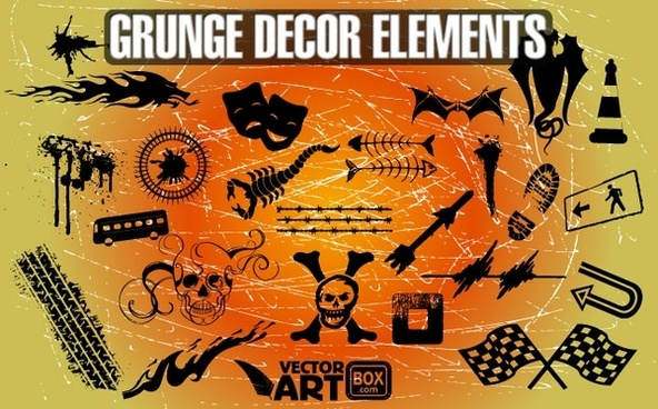 Grunge Decor Elements