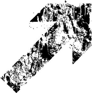 Grunge destroyed arrows vector