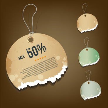 grunge discount sale tags