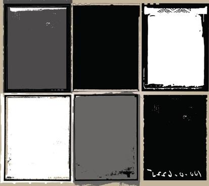 grunge film elements vector