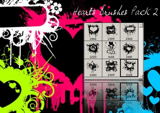Grunge Heart Brushes