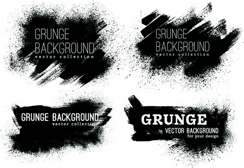 grunge ink background vectors