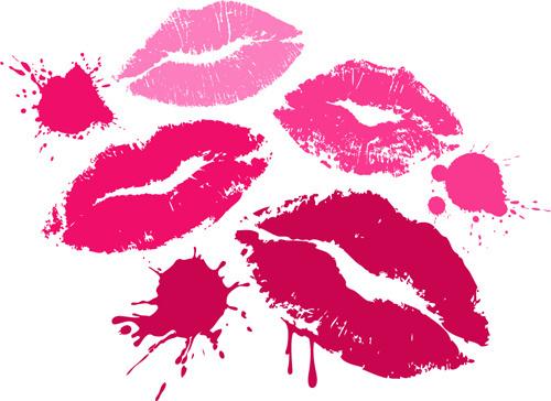grunge lipstick design vector