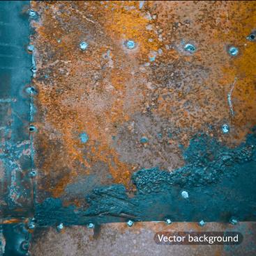 grunge metal background vector