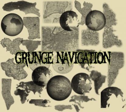 grunge navigation