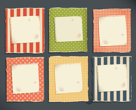grunge object label paper vector