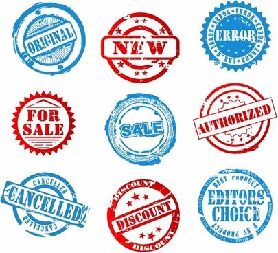 Grunge Sales Stamps