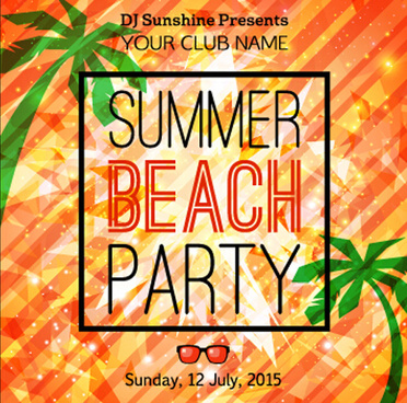 grunge styles party poster summer vector