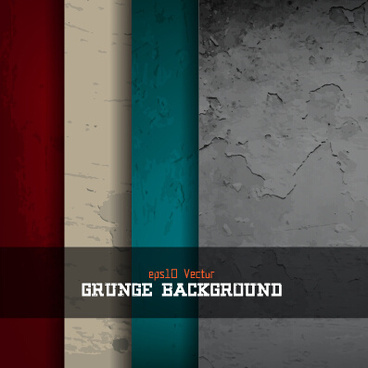 grunge textures vector background set