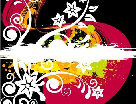 Grunge vector image 04