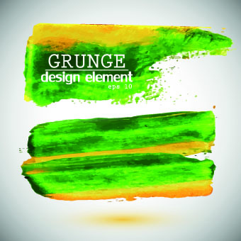 grunge watercolor elements vector background