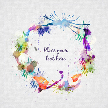 grunge watercolor frame background vector