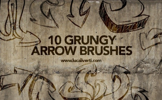 Grungy Arrow  Brushes