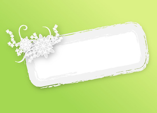 grungy banner green background