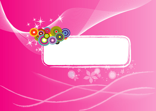 grungy banner pink background