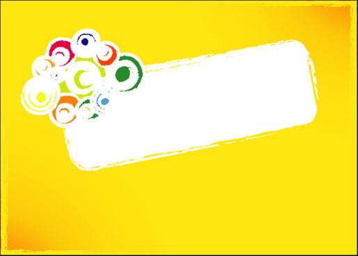 grungy banner yellow background