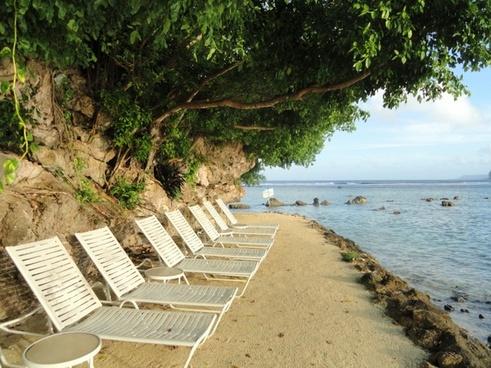 guam beach sea