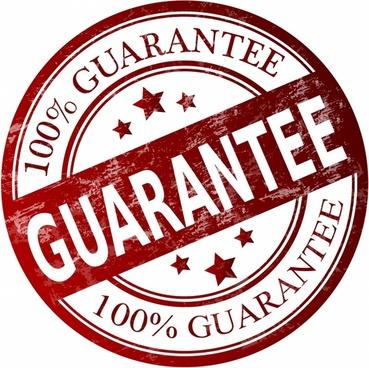 Guarantee stamp - Stock Image