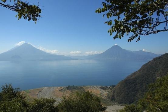 guatemala landscape lake