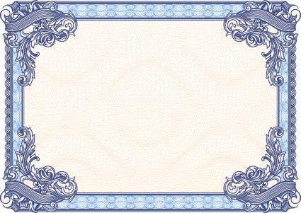 guilloche frames vector art