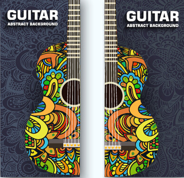 guitar abstract banner vector
