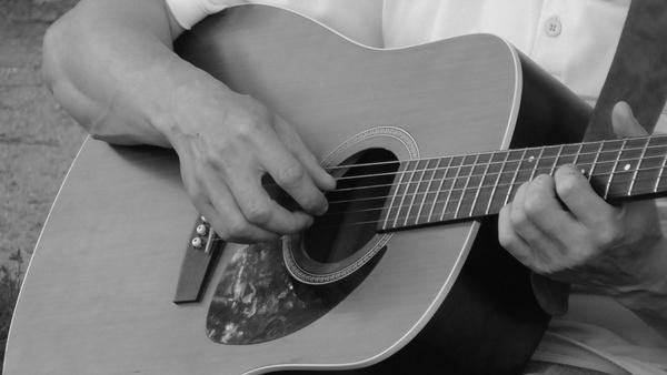guitar black white instrument