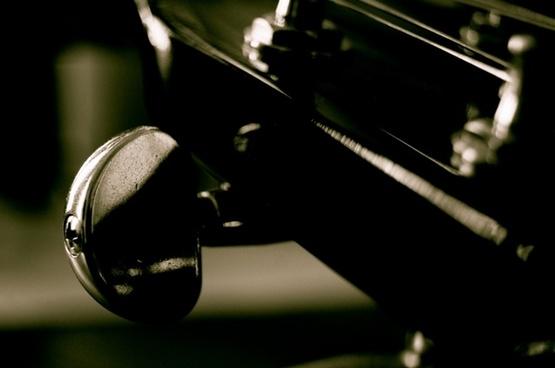 guitar string black