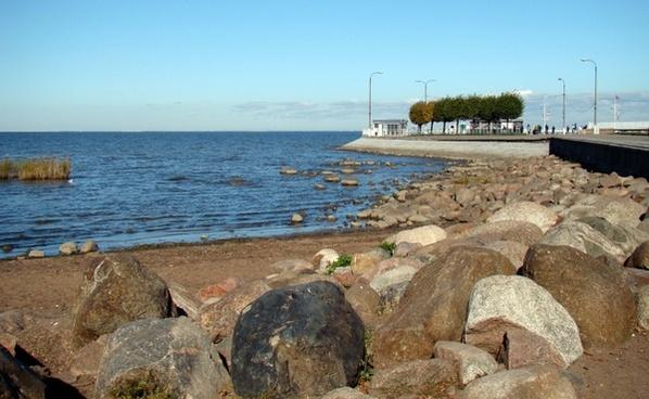 gulf of finland sea autumn