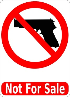Guns Not For Sale clip art