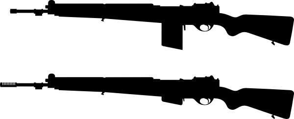 Guns Silhouette clip art
