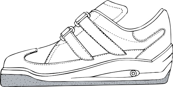 Gym Shoe clip art