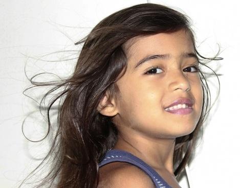 hair flying beautiful hair child's hair