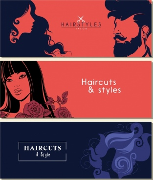 haircut advertising dark design hairstyle decor