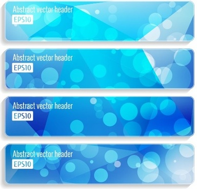 halation abstract banner design vector set