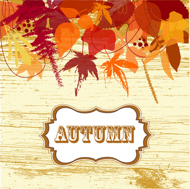 halation autumn leaves art background vector
