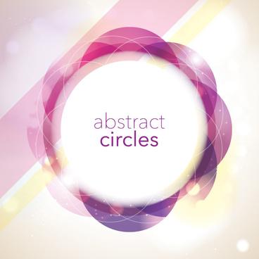 halation circles frame vector background