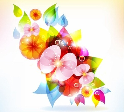 halation color floral free vector graphic
