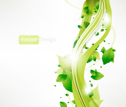 halation leaf background vector