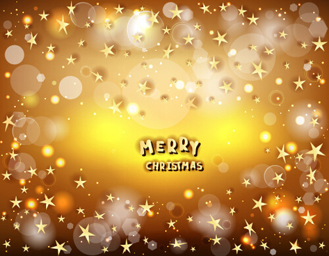 halation merry christmas stars vector background