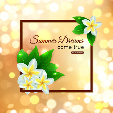 halation summer art background vector